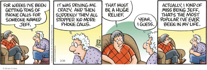 Comic Strip Brian Crane  Pickles 2015-02-26 get a life