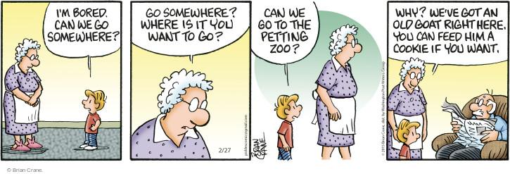 Comic Strip Brian Crane  Pickles 2015-02-27 get old