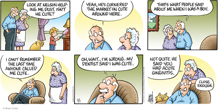 Comic Strip Brian Crane  Pickles 2015-03-01 hygiene