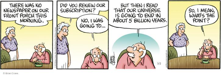 Comic Strip Brian Crane  Pickles 2015-03-02 resignation