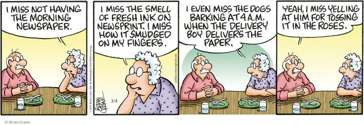 Comic Strip Brian Crane  Pickles 2015-03-04 delivery