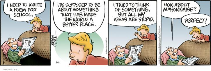 Comic Strip Brian Crane  Pickles 2015-03-06 poetry