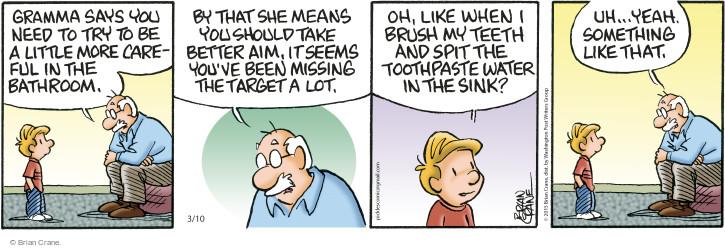 Comic Strip Brian Crane  Pickles 2015-03-10 careful