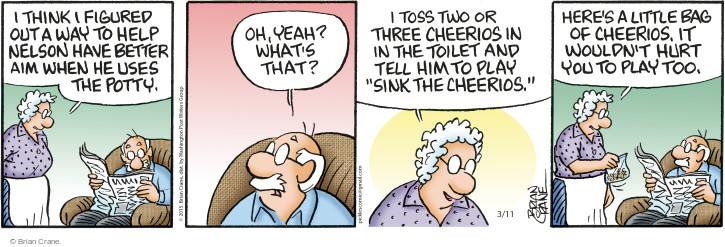 Comic Strip Brian Crane  Pickles 2015-03-11 urination