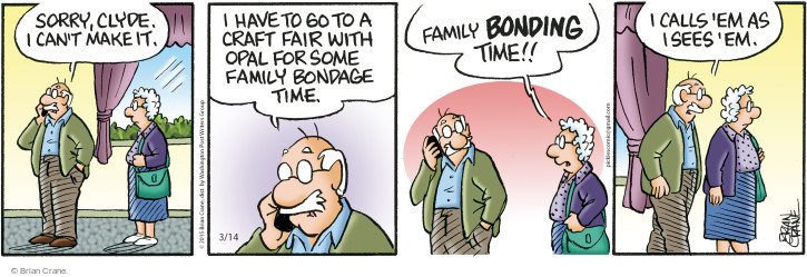 Comic Strip Brian Crane  Pickles 2015-03-14 bond