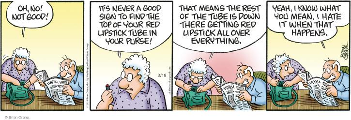 Comic Strip Brian Crane  Pickles 2015-03-18 red