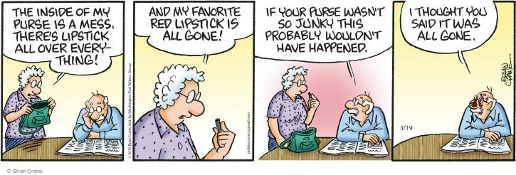 Comic Strip Brian Crane  Pickles 2015-03-19 red