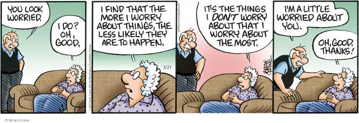 Comic Strip Brian Crane  Pickles 2015-03-21 anxious