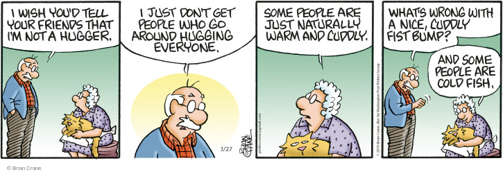 Comic Strip Brian Crane  Pickles 2015-03-27 cuddly