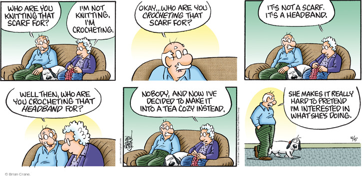 Comic Strip Brian Crane  Pickles 2015-04-05 pretend