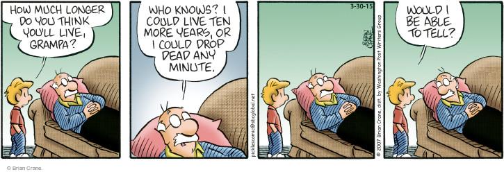 Comic Strip Brian Crane  Pickles 2015-03-30 alive