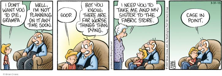 Comic Strip Brian Crane  Pickles 2015-03-31 worse
