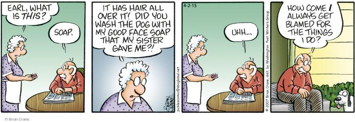 Comic Strip Brian Crane  Pickles 2015-04-02 hair