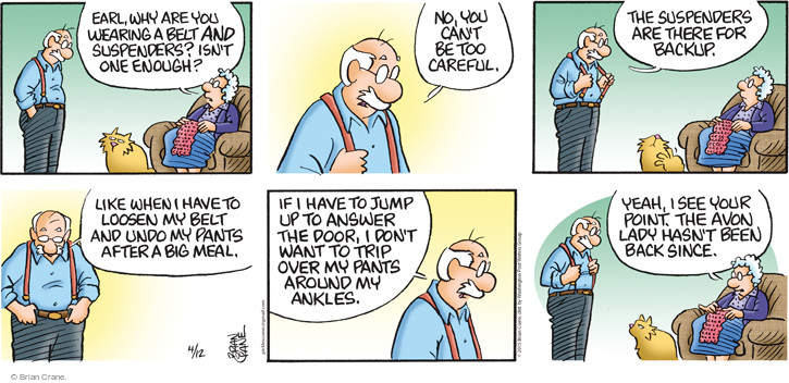 Comic Strip Brian Crane  Pickles 2015-04-12 back when