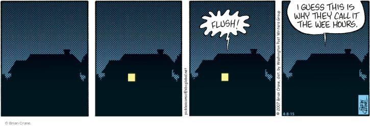 Comic Strip Brian Crane  Pickles 2015-04-08 urinate