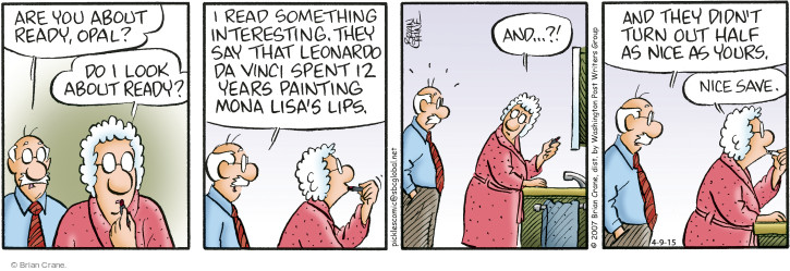 Comic Strip Brian Crane  Pickles 2015-04-09 painting