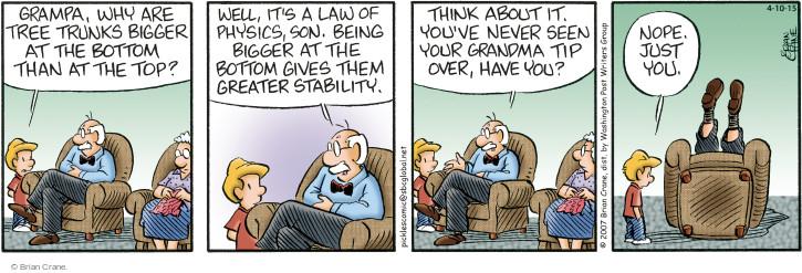 Comic Strip Brian Crane  Pickles 2015-04-10 science