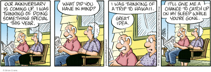 Comic Strip Brian Crane  Pickles 2015-04-11 separate