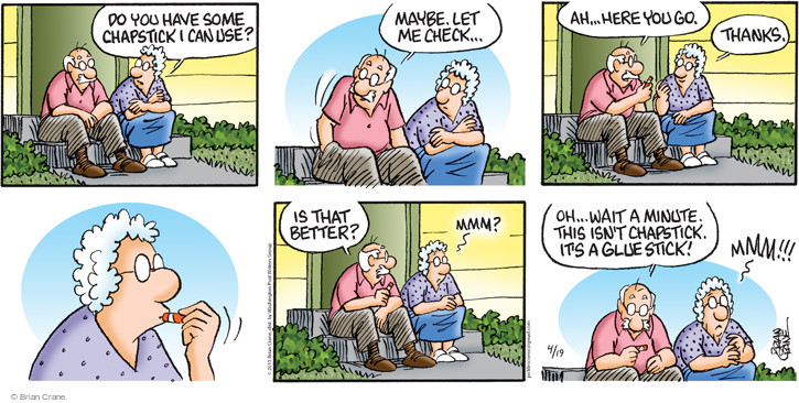 Comic Strip Brian Crane  Pickles 2015-04-19 check