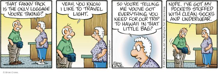 Comic Strip Brian Crane  Pickles 2015-04-16 underwear