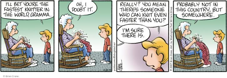 Comic Strip Brian Crane  Pickles 2015-04-22 fast