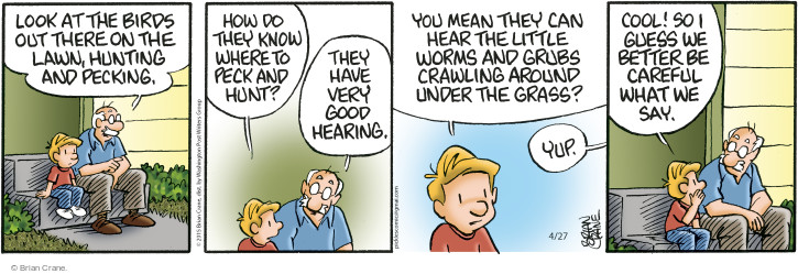 Comic Strip Brian Crane  Pickles 2015-04-27 bird