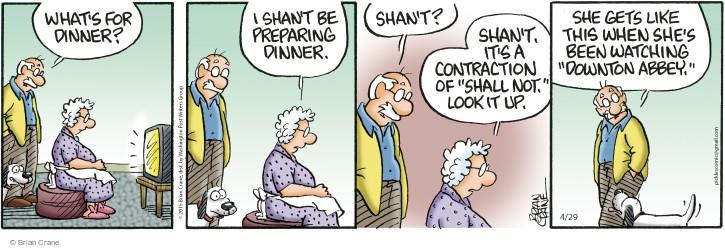 Comic Strip Brian Crane  Pickles 2015-04-29 language