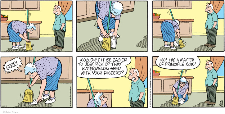 Comic Strip Brian Crane  Pickles 2015-05-10 sweep