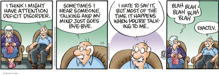 Comic Strip Brian Crane  Pickles 2015-05-05 communication