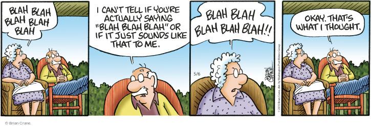 Comic Strip Brian Crane  Pickles 2015-05-06 hear