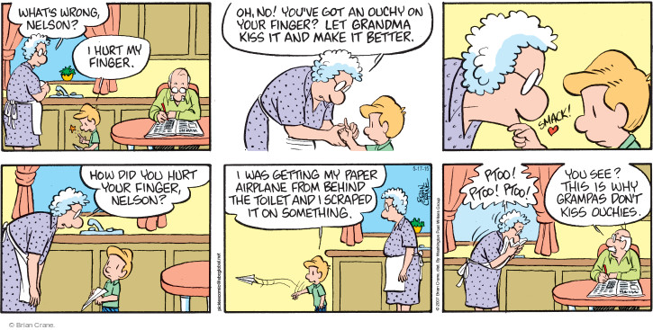 Comic Strip Brian Crane  Pickles 2015-05-17 Nelson