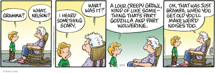 Comic Strip Brian Crane  Pickles 2015-05-13 hear