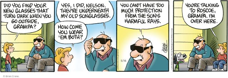 Comic Strip Brian Crane  Pickles 2015-05-16 Nelson