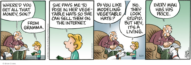 Comic Strip Brian Crane  Pickles 2015-05-21 hat