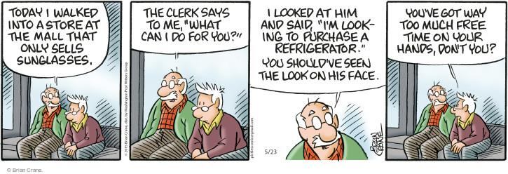 Comic Strip Brian Crane  Pickles 2015-05-23 too