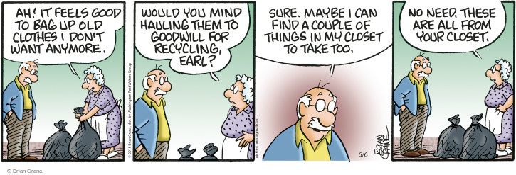 Comic Strip Brian Crane  Pickles 2015-06-06 Earl