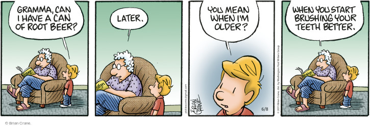 Comic Strip Brian Crane  Pickles 2015-06-08 hygiene