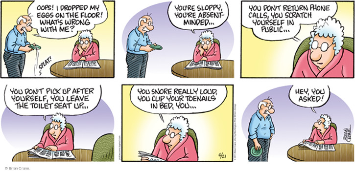 Comic Strip Brian Crane  Pickles 2015-06-21 absentminded