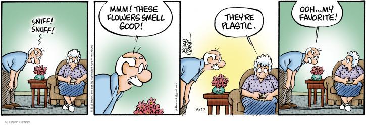 Cartoonist Brian Crane  Pickles 2015-06-17 smell