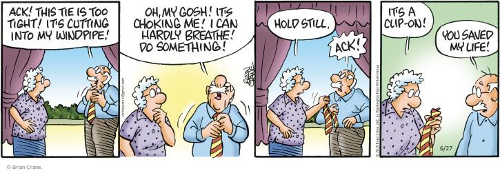 Comic Strip Brian Crane  Pickles 2015-06-27 tie