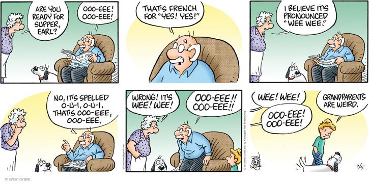 Comic Strip Brian Crane  Pickles 2015-07-05 language