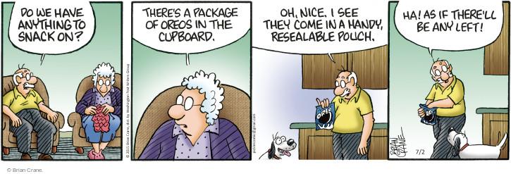 Cartoonist Brian Crane  Pickles 2015-07-02 cookie