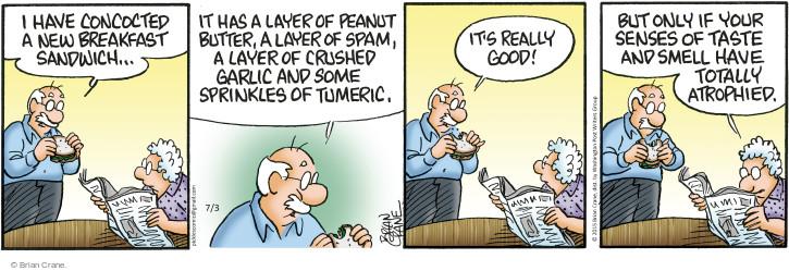 Comic Strip Brian Crane  Pickles 2015-07-03 ingredient