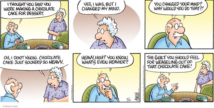 Comic Strip Brian Crane  Pickles 2015-07-12 guilty