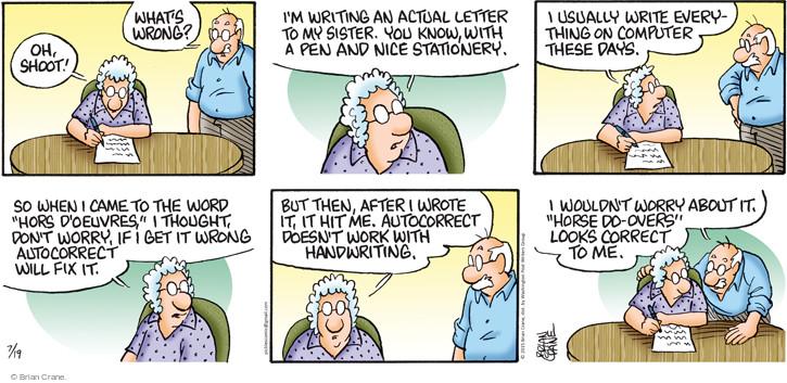 Comic Strip Brian Crane  Pickles 2015-07-19 letter