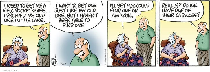 Comic Strip Brian Crane  Pickles 2015-07-13 get old