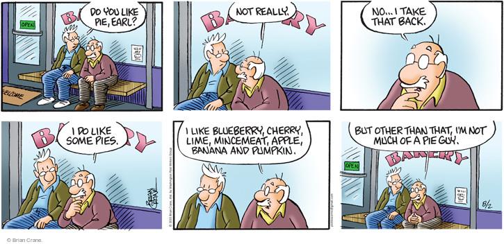 Comic Strip Brian Crane  Pickles 2015-08-02 pumpkin pie