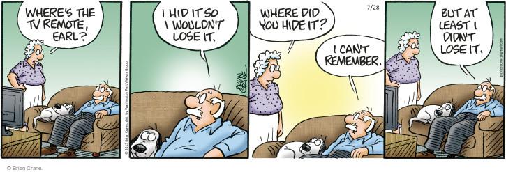 Comic Strip Brian Crane  Pickles 2015-07-28 Lost