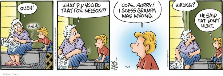 Cartoonist Brian Crane  Pickles 2015-07-29 painful