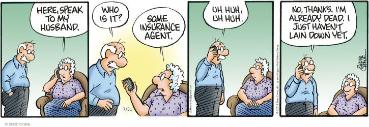 Comic Strip Brian Crane  Pickles 2015-07-31 yet